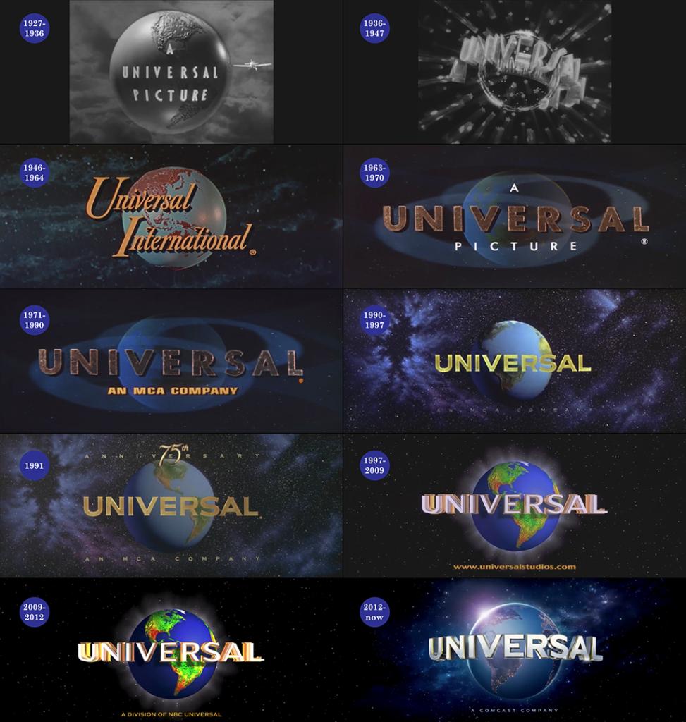 Universal Logo over 100 years